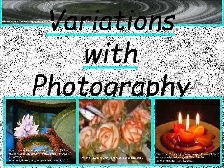 variations with photography ltec 3220 020 clair o brien n.