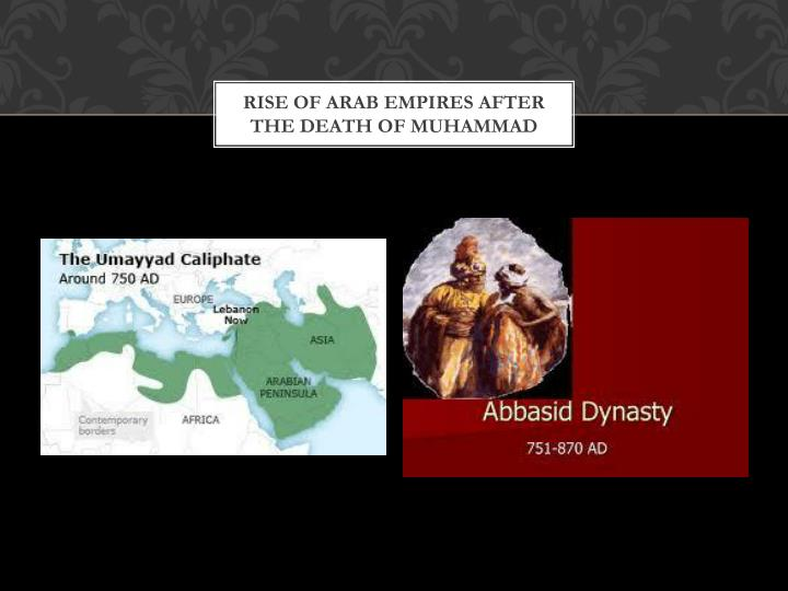 Rise of Arab Empires after the Death of Muhammad