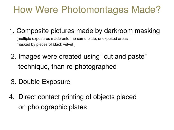 How Were Photomontages Made?
