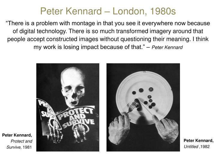 Peter Kennard – London, 1980s