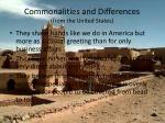 commonalities and differences from the united states