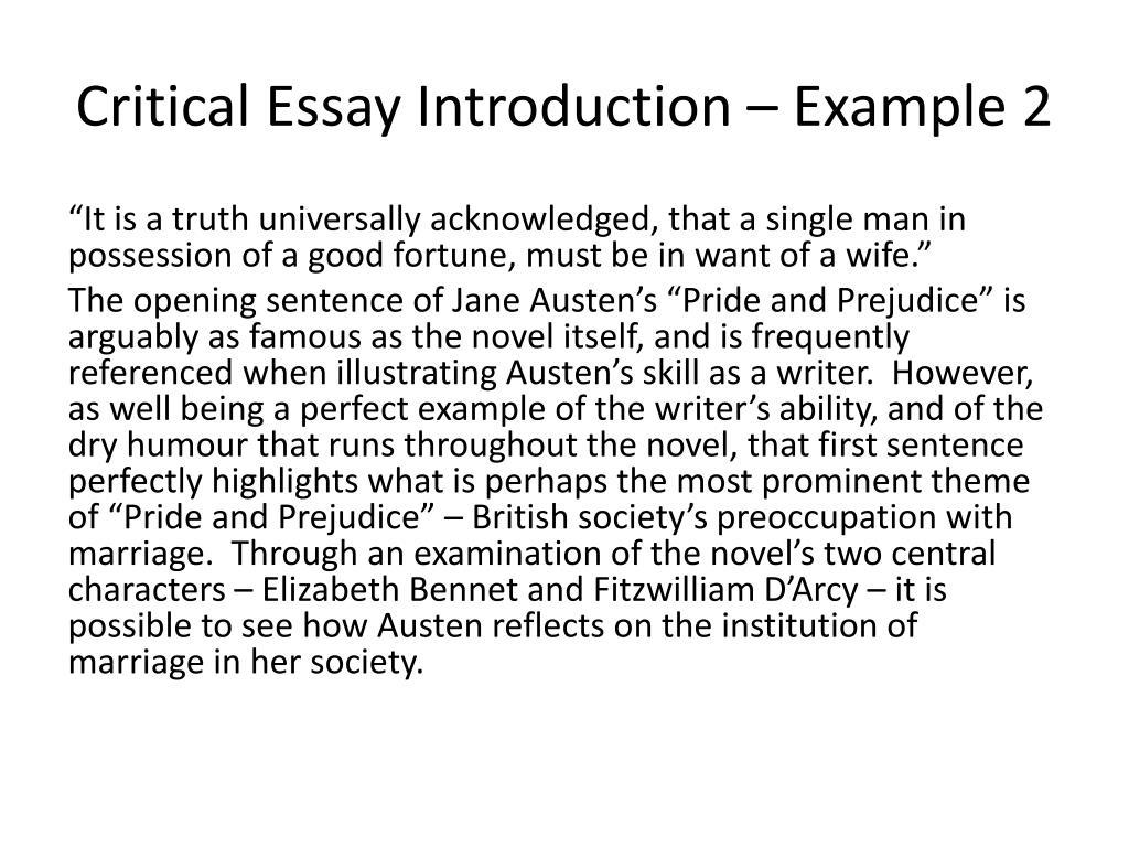 Critical analysis dissertation