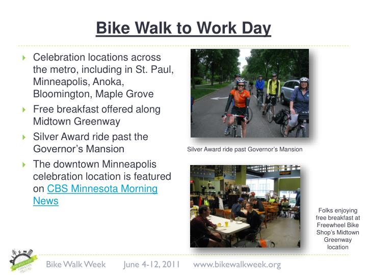 Bike Walk to Work Day