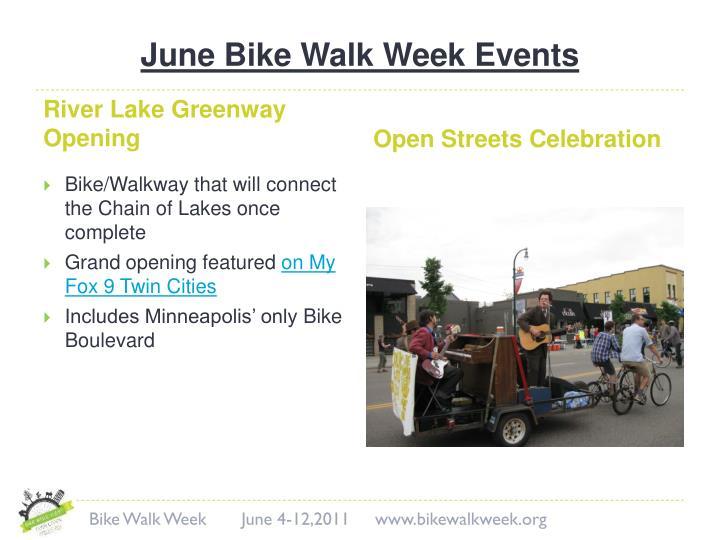 June Bike Walk Week Events