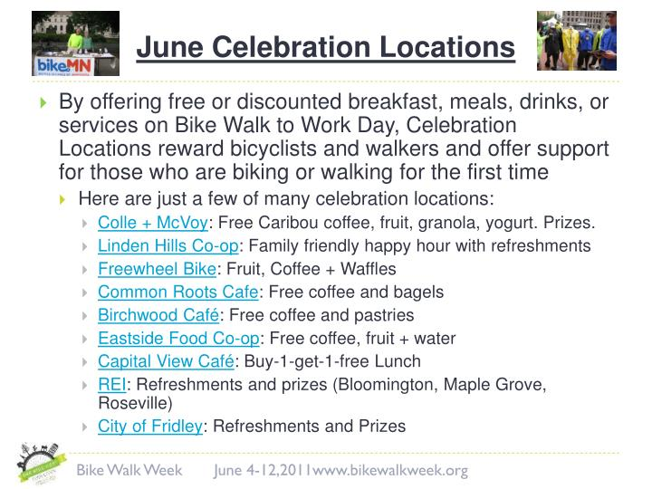 June Celebration Locations
