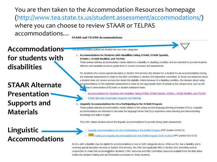 You are then taken to the Accommodation Resources homepage (