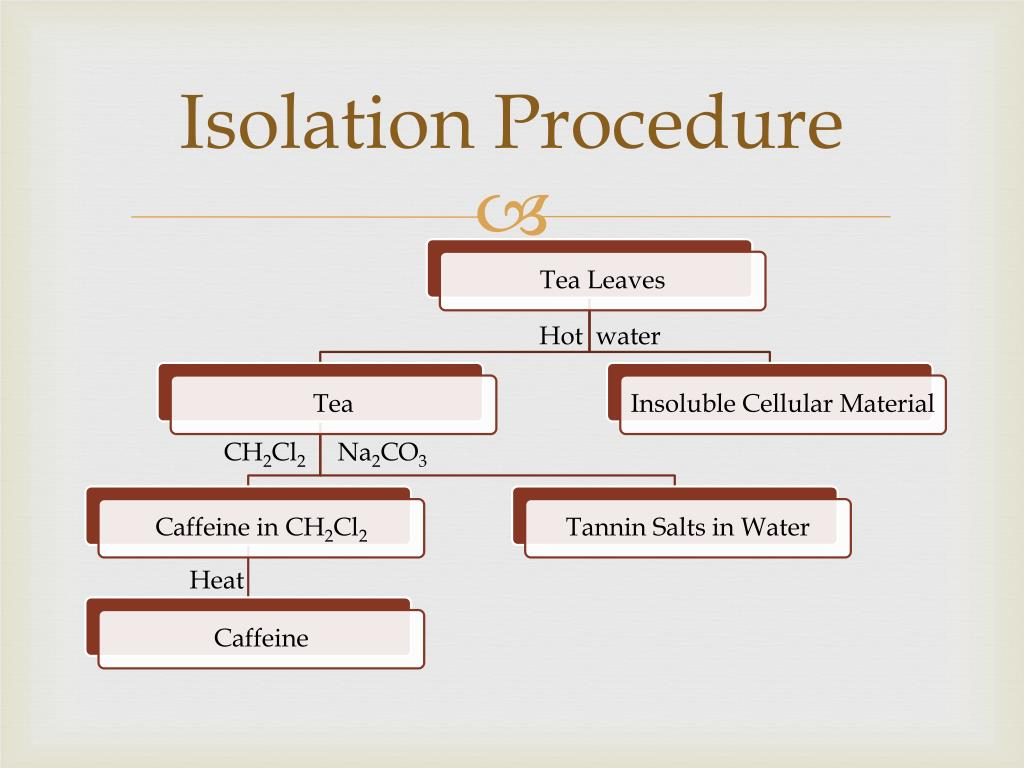 Ppt Isolation Of Caffeine From Tea Leaves Powerpoint Presentation Free Download Id 1607508