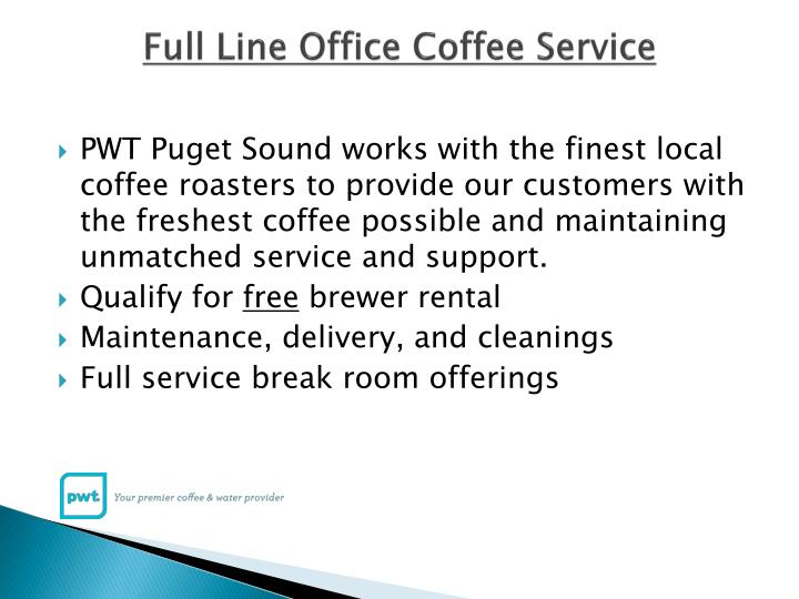 Full line office coffee service