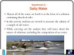 experiment 2 salty water