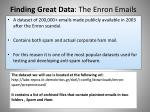 finding great data the enron emails