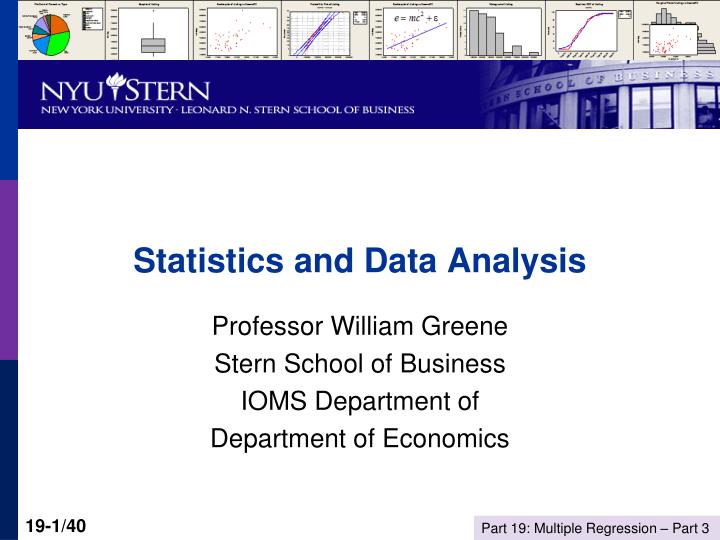 statistics and business data analysis In a highly competitive and an increasingly internet-centric world where information and data is available in abundance, only those companies will survive that focus on statistics in business decision analysis as a primary tool of decision making.