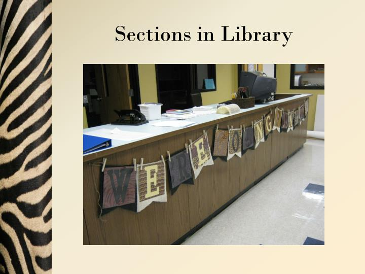 Sections in Library