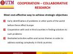cooperation collaborative research