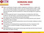 horizon 2020 key novelties