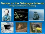 darwin on the galapagos islands divergent evolution and co evolution