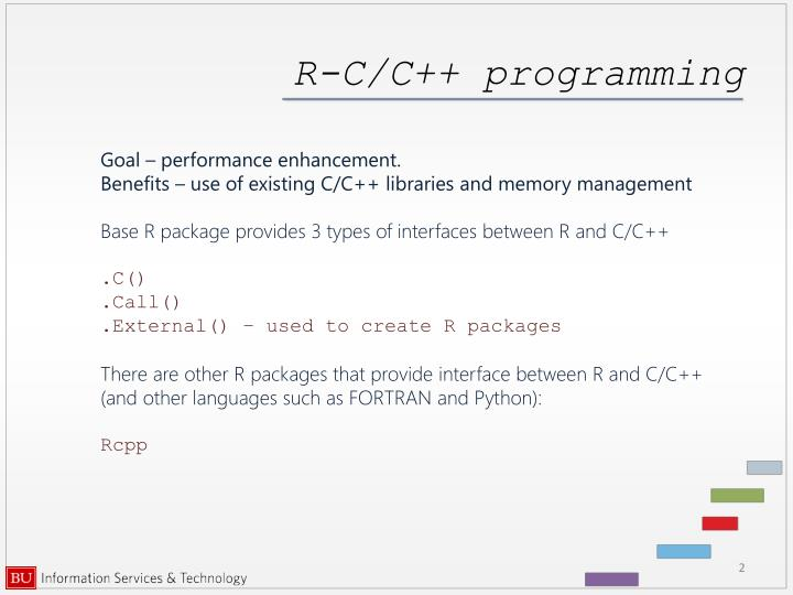 R c c programming