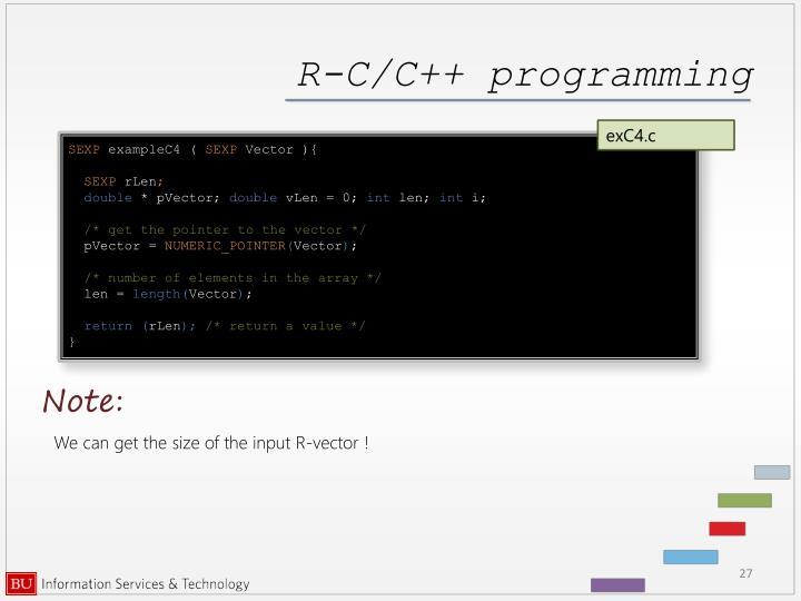 R-C/C++ programming