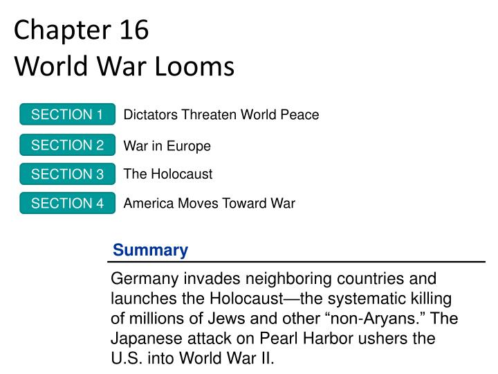 chapter 16 world war looms n.