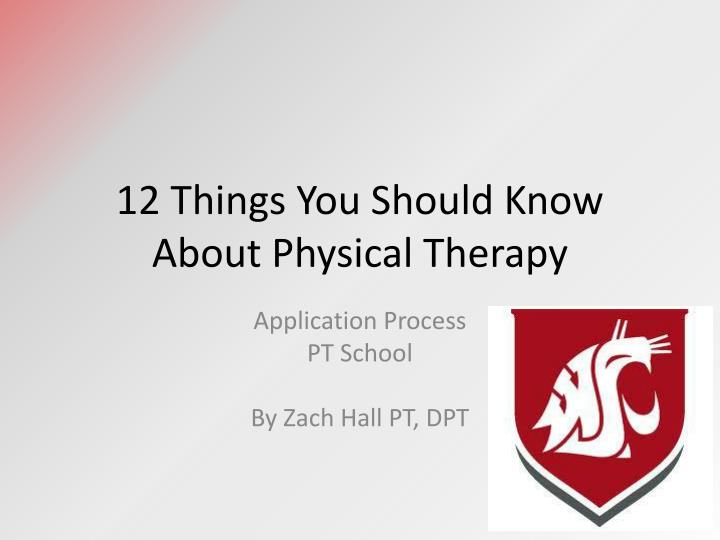 12 things you should know about physical therapy n.