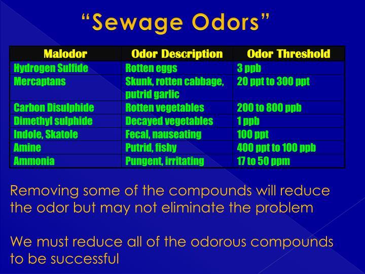 """Sewage Odors"""