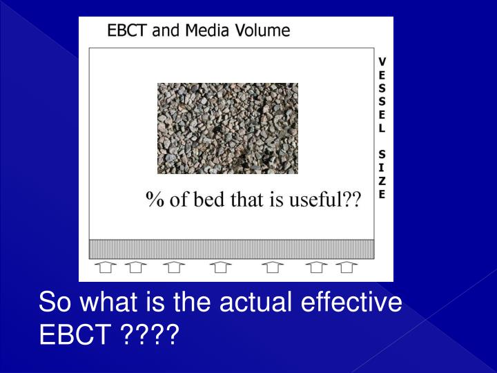 So what is the actual effective EBCT ????