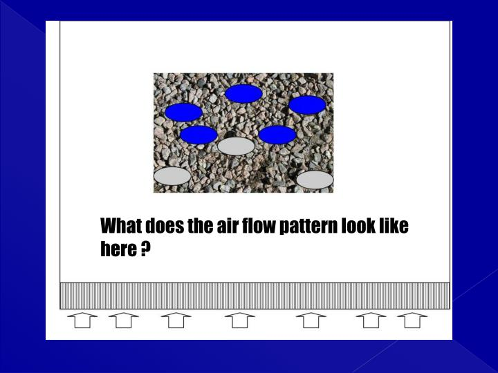 What does the air flow pattern look like here ?