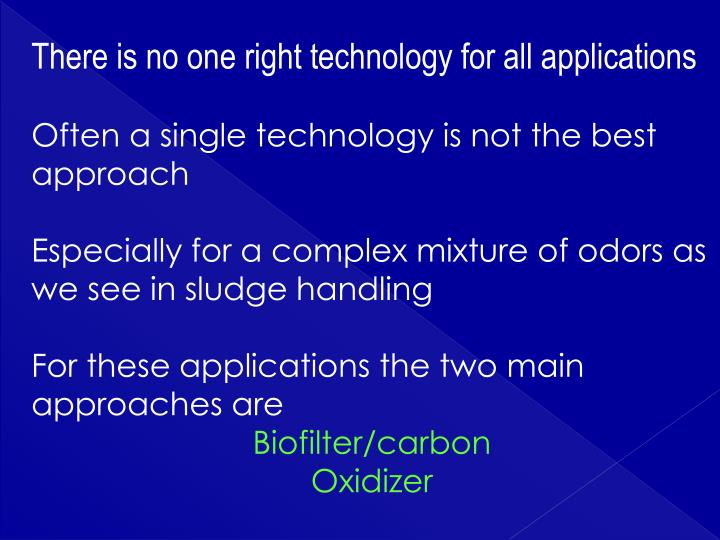 There is no one right technology for all applications
