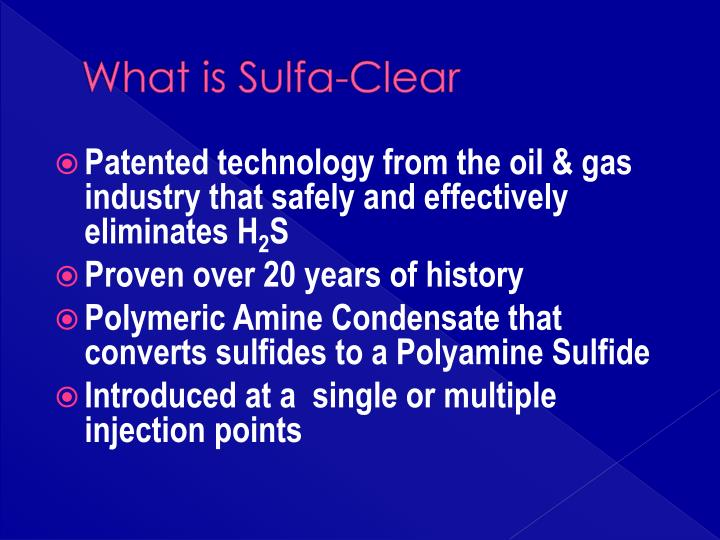 What is Sulfa-Clear