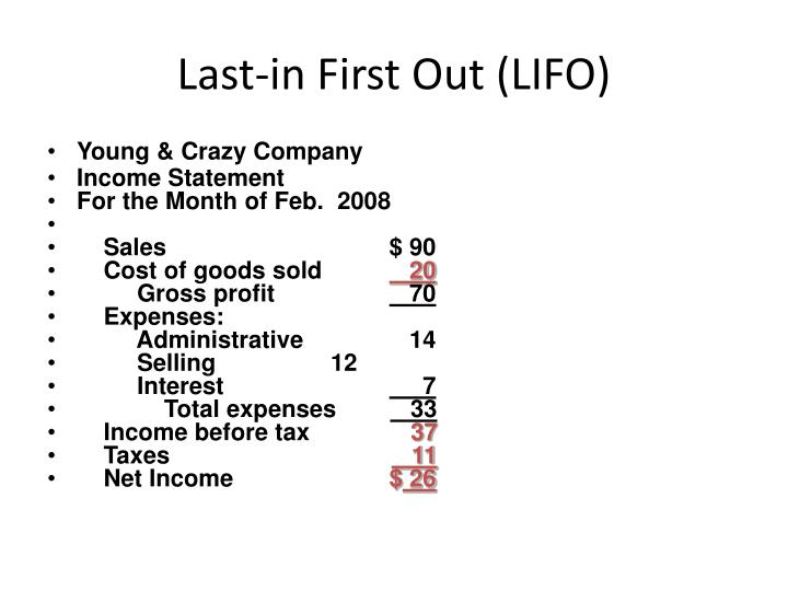 Last-in First Out (LIFO)