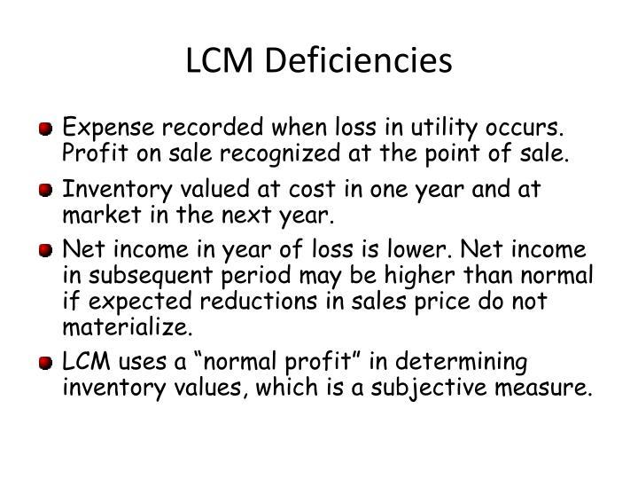 LCM Deficiencies