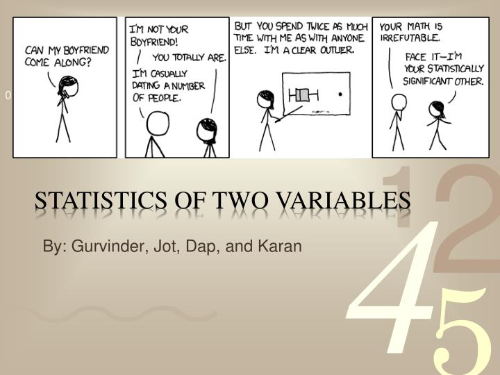 statistics of two variables n.