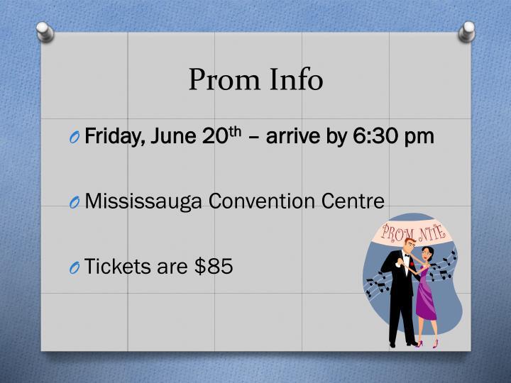 Prom Info