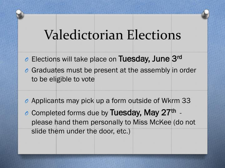 Valedictorian Elections