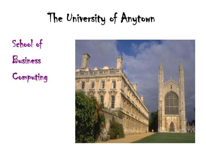 the university of anytown n.