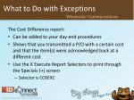 what to do with exceptions10