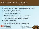 what to do with exceptions2