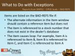 what to do with exceptions20
