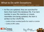 what to do with exceptions23