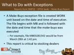 what to do with exceptions27