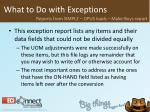 what to do with exceptions28