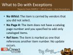 what to do with exceptions34