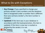 what to do with exceptions36