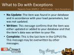 what to do with exceptions37