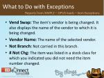 what to do with exceptions38