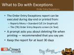 what to do with exceptions4