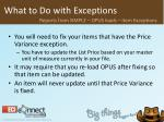 what to do with exceptions40