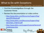 what to do with exceptions41