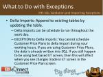 what to do with exceptions51