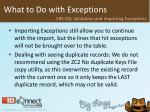 what to do with exceptions54