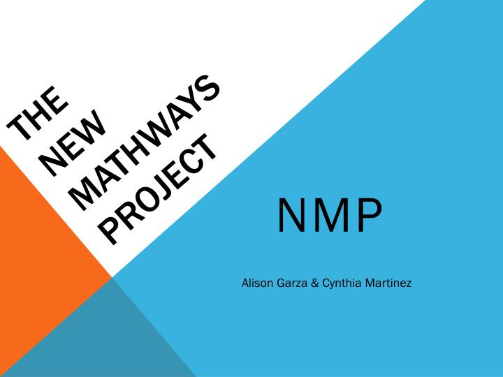 the new mathways project n.